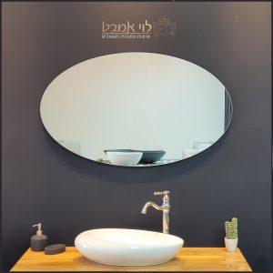 מראה אובלית מרחפת מראה לארון אמבטיה 100 סמ