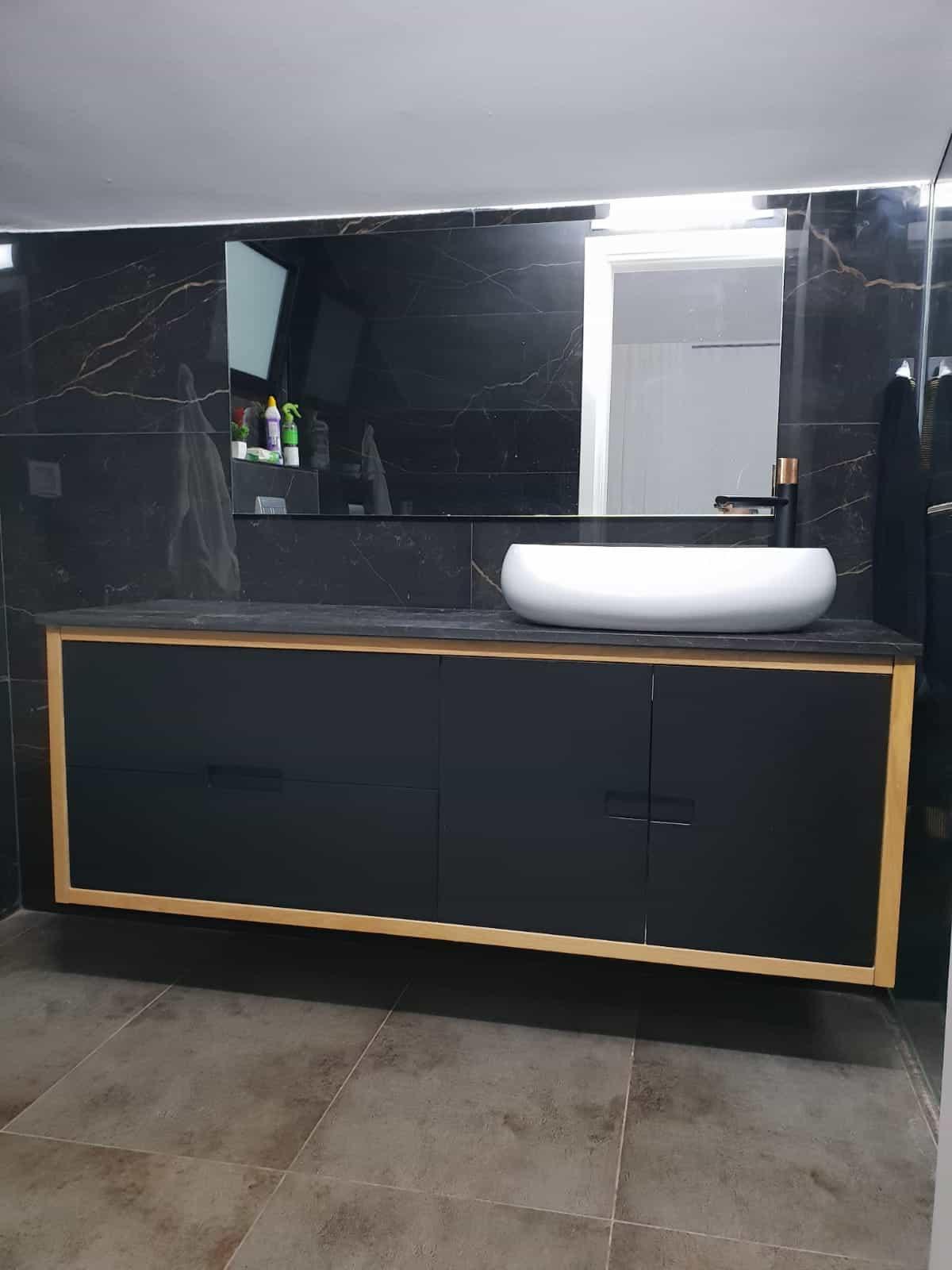 ארונות אמבטיה בהתאמה אישית לוי אמבט דגם 1201
