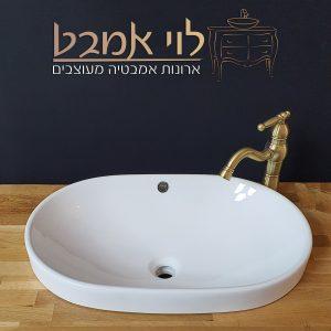 כיור שתול לארון אמבטיה משטח בוצר לוי אמבט