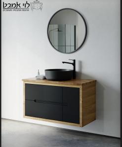 ארון אמבטיה עץ אלון