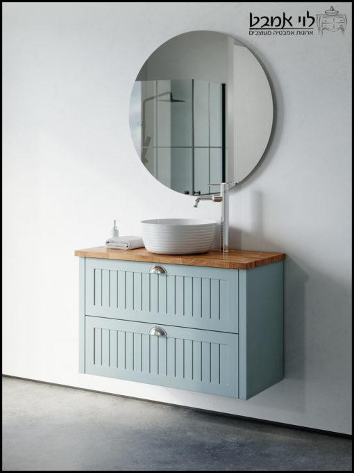 ארונות אמבטיהארון אמבטיה חגית תכלת ענתיק משטח בוצ'ר
