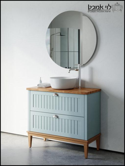 ארון אמבטיה חגית עומד רגליים תכלת ענתיק