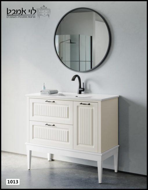 ארון אמבטיה דגם רוי אבן משטח כיור עומד על רגליים