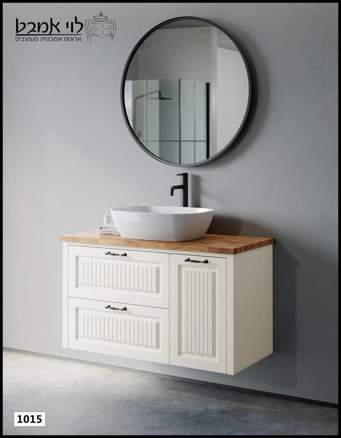 ארון אמבטיה דגם רוי אבן משטח בוצ'ר תלוי