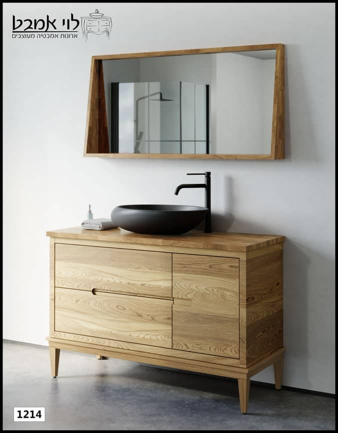 """ארון אמבטיה דגם אלון רוחב 120 ס""""מ עומד רגלים"""
