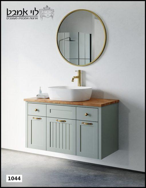"""ארון אמבטיה דגם ונציה ירוק חאקי רוחב 100 ס""""מ"""