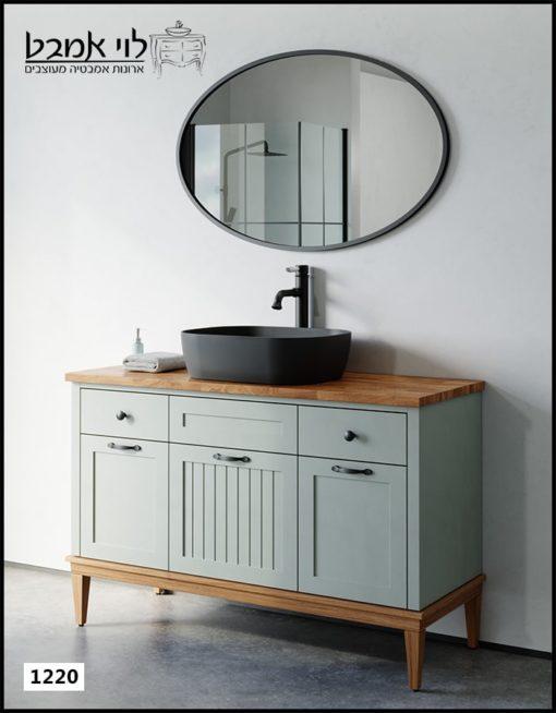 """ארון אמבטיה דגם ונציה רוחב 120 ס""""מ ירוק חאקי"""