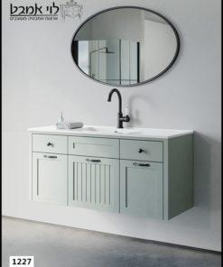 """ארון אמבטיה דגם ונציה תלוי רוחב 120 ס""""מ ירוק חאקי"""