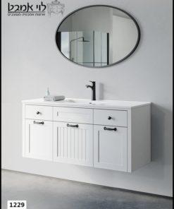 """ארון אמבטיה דגם ונציה תלוי רוחב 120 ס""""מ לבן"""