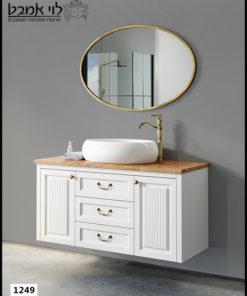 """ארון אמבטיה דגם אדל רןחב 120 ס""""מ לבן תלוי"""