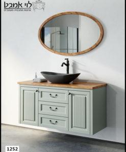 ארון אמבטיה דגם אדל ירוק חאקי תלוי