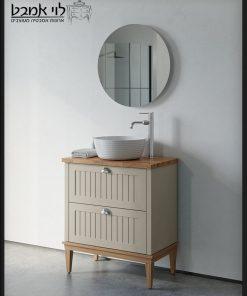 """ארון אמבטיה חגית עומד רגליים אבן משטח בוצ'ר 70 ס""""מ עומק 40"""